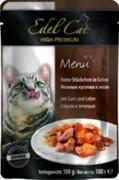 EDEL CAT Эдель Кэт  пауч д/кошек кусочки в желе с Гусем и Печенью 100г