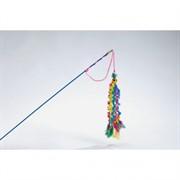 I.P.T.S. 430262 Игрушка д/кошек Удочка 6 вельветовых хвостиков с перьями 46см