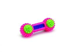 I.P.T.S. 625823 Игрушка д/собак Гантель розовая, TPR 15см