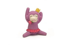 Beeztees 621140 Игрушка д/собак Обезьянка розовая, латекс 14см