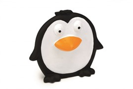 Beeztees Игрушка д/собак Пингвин плоский черный, винил 14см