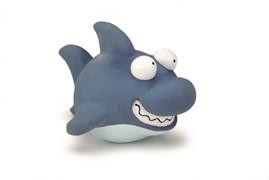 Beeztees 621147 Игрушка д/собак Акула синяя, латекс 19см