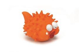 Beeztees 621148 Игрушка д/собак Рыба-шар оранжевая, латекс 15см