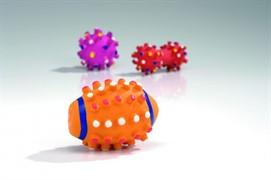 I.P.T.S. 620853 Игрушка д/щенков (мяч, мяч-регби, гантель), латекс, в ассорт. 10*5см
