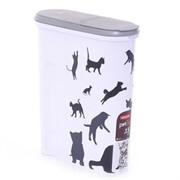 Контейнер для корма Кошка, черно-белый, на 1,5кг/4,5л, 25*10*30см