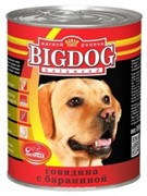 Зоогурман консервы д/собак Big Dog Говядина с бараниной 850г