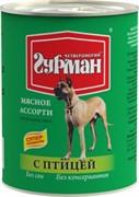 Четвероногий Гурман 44379 консервы д/собак Мясное ассорти с Птицей 340г
