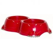 Moderna Двойная миска нескользящая Smarty, 2*330мл, красная