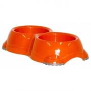 Moderna Двойная миска нескользящая Smarty, 2*330мл, оранжевая