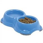 Moderna Двойная миска для корма и воды из полированного пластика.