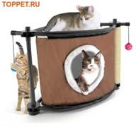 Игровой комплекс с когтеточкой для кошек: Сонное царство Sleepy Corner: 44*45*45см, сизаль