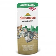 Almo-Nature Лакомство для кошек Куриное филе, 99% мяса (Green Label Mini Food Chicken Fillet)