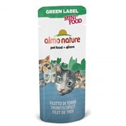 Almo-Nature Лакомство для кошек Филе Тунца, 99% мяса (Green Label Mini Food Tuna Fillet)
