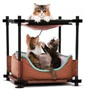 Лежак для кошек: Барские покои Cozy Bed: 44*45*45см