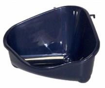 Moderna Туалет для грызунов pet's corner угловой большой, 49х33х26, королевский синий
