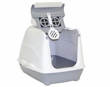 Moderna Туалет-домик Flip с угольным фильтром, 50х39х37см, серый