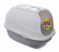 Moderna Туалет-домик мега комфи с совком и угольным фильтром, 50х47х60, серый