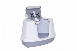 Moderna Туалет-домик угловой Flip с угольным фильтром, 55х45х38см, серый
