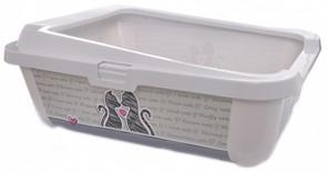 Moderna Туалет-лоток Влюбленные коты с бортами, 51х39х19см (Cats in love)