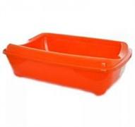 Moderna Туалет-лоток большой с рамкой  artist large + rim, 57х43х15 jumbo оранжевый