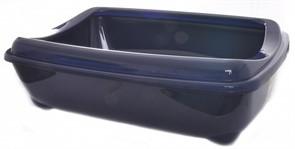 Moderna Туалет-лоток большой с рамкой artist large + rim, 49х37х13 королевский синий