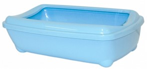 Moderna Туалет-лоток большой с рамкой artist large + rim, 49х37х13 небесно голубой