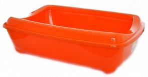 Moderna Туалет-лоток большой с рамкой artist large + rim, 49х37х13 оранжевый
