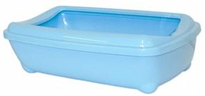 Moderna Туалет-лоток средний с рамкой artist medium + rim, 42х30х12  небесно голубой