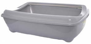 Moderna Туалет-лоток средний с рамкой artist medium + rim, 42х30х12  серый