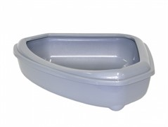 Moderna Туалет-лоток угловой с рамкой corner+rim, 55х45х13, серый