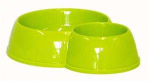 Moderna Миска двойная пластиковая Eco duplex, 170*450мл, салатовая