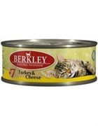 BERKLEY Беркли Консервы для кошек с индейкой и сыром, Adult Turkey&Cheese