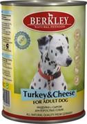 BERKLEY Беркли консервы д/собак Индейка с сыром 400г