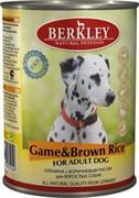 BERKLEYБеркли  консервы д/собак Оленина с коричневым рисом 400г
