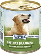 HAPPY DOG консервы д/с баранина с сердцем,печенью и рубцом 750г