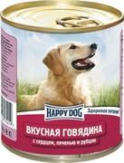 HAPPY DOG консервы д/с говядина с сердцем,печенью и рубцом 750г