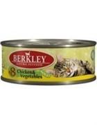 BERKLEY Беркли Консервы для кошек с цыпленком и овощами, Adult Chicken&Vegetables