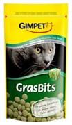 Gimpet Джимпет  GrasBits Витаминизированные таблетки с травой д/кошек 85шт