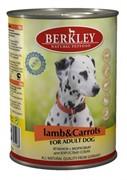 BERKLEY Беркли консервы д/собак Ягненок с морковью 400г