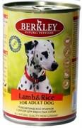 BERKLEY Беркли консервы д/собак Ягненок с рисом 400г