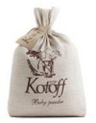 KOTOFF PREMIUM ECO-концепция Комкующийся наполнитель Детская пудра (холщовый мешок)