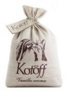 KOTOFF PREMIUM ECO-концепция Комкующийся наполнитель Золотая ваниль (холщовый мешок)