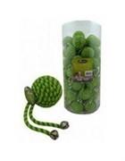 Игрушка для кошек Мячик с бубенчиком, зеленый, нейлон, 5см (Ball with bells green) 240043