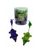 Игрушка для кошек Плюшевые мышки, зеленые и фиолетовые 60х11см (Plush green + violet mice 11 cm unstuffed tube 60 pcs) 240057