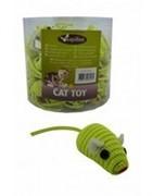 Игрушка для кошек Светоотражающая Мышка с погремушкой, желтая, 5см (Mouse fluorescent yellow) 240041