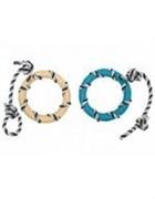 Игрушка для собак Кольцо на веревке, латекс, 14*46см (Rope with ring) 140032