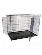Клетка металлическая с 2 дверками, 118*78*85 см, черная (Wire cage black 2 doors) 151218