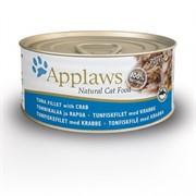 APPLAWS Консервы для Кошек с Тунцом и Крабовым мясом (Cat Tuna & Crab)
