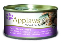 APPLAWS Консервы для Кошек со Скумбрией и Сардинками (Cat Mackerel & Sardine) 0,070 кг