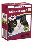 BOZITA Кусочки в желе для кошек c рубленой говядиной, Bozita in Jelly with Minced Beef